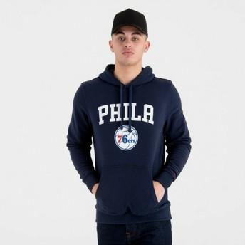 Sudadera con capucha azul marino Pullover Hoody de Philadelphia 76ers NBA de New Era