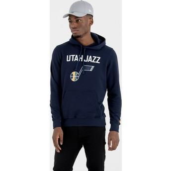 Sudadera con capucha azul marino Pullover Hoody de Utah Jazz NBA de New Era