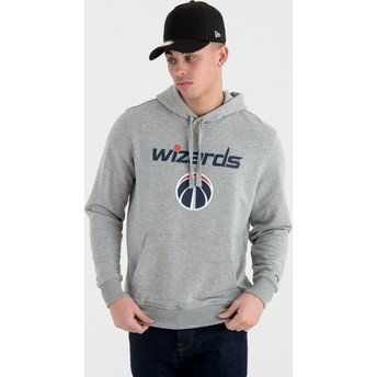 Sudadera con capucha gris Pullover Hoody de Washington Wizards NBA de New Era