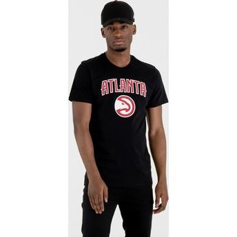 Camiseta de manga corta negra de Atlanta Hawks NBA de New Era