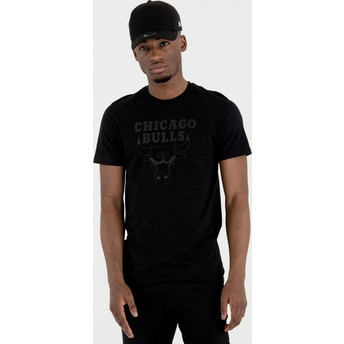 Camiseta de manga corta negra de Chicago Bulls NBA de New Era