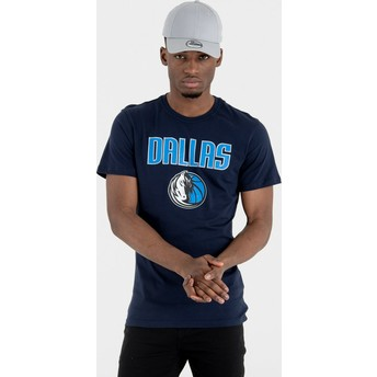 Camiseta de manga corta azul marino de Dallas Mavericks NBA de New Era