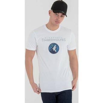 Camiseta de manga corta blanca de Minnesota Timberwolves NBA de New Era