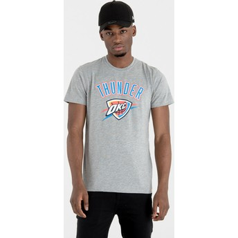 Camiseta de manga corta gris de Oklahoma City Thunder NBA de New Era