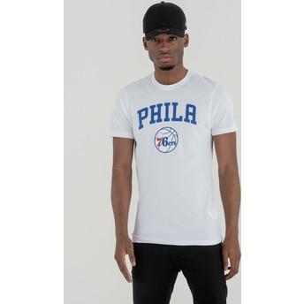 Camiseta de manga corta blanca de Philadelphia 76ers NBA de New Era