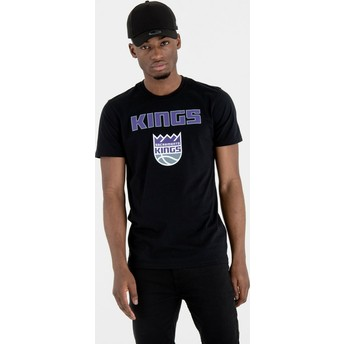 Camiseta de manga corta negra de Sacramento Kings NBA de New Era