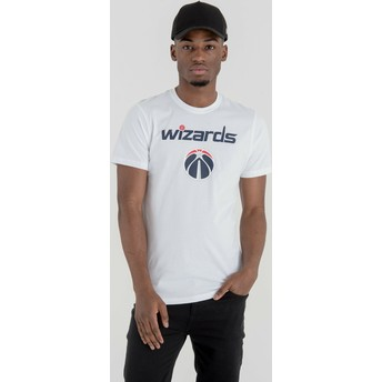 Camiseta de manga corta blanca de Washington Wizards NBA de New Era