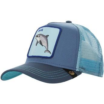 Gorra trucker azul delfín Save Us de Goorin Bros.