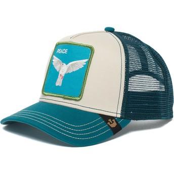 Gorra trucker azul y blanca paloma Peace Keeper de Goorin Bros.