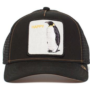 Gorra trucker negra pingüino Waddler de Goorin Bros.