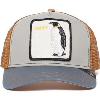 Gorra trucker gris pingüino Waddler de Goorin Bros.