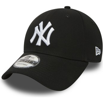 Gorra curva negra ajustable 9FORTY Essential de New York Yankees MLB de New Era