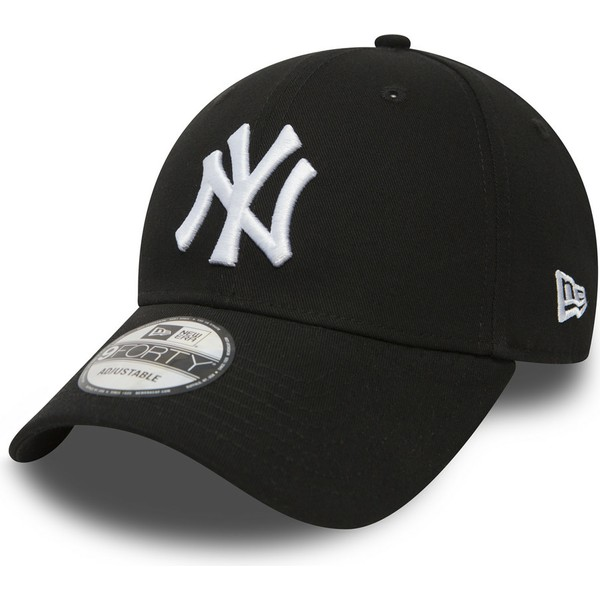 gorra-curva-negra-ajustable-9forty-essential-de-new-york-yankees-mlb-de-new-era