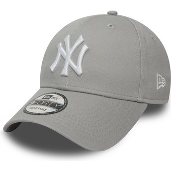 Gorra curva gris ajustable 9FORTY Essential de New York Yankees MLB de New Era