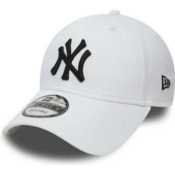 Gorra curva blanca ajustable 9FORTY Essential de New York Yankees MLB de New Era