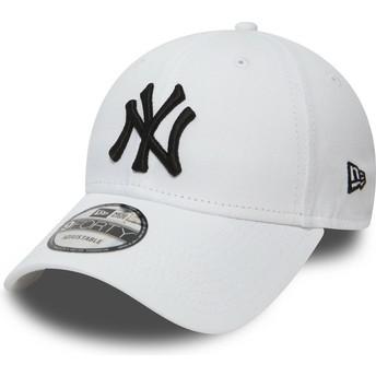 Gorra curva blanca ajustable 9FORTY Essential de New York Yankees MLB de New Era