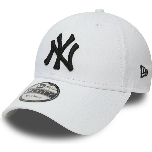 Gorra curva blanca ajustable 9FORTY Essential de New York Yankees ... db03f56a2ea