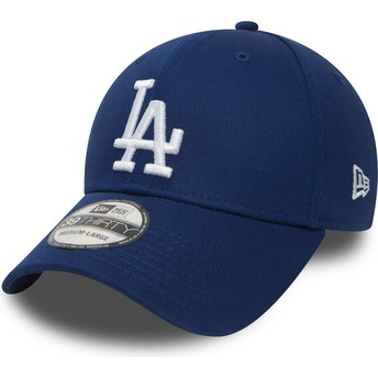 Gorra curva azul ajustada 39THIRTY Essential de Los Angeles Dodgers MLB de New Era