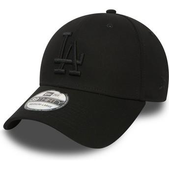 Gorra curva negra ajustada 39THIRTY Essential de Los Angeles Dodgers MLB de New  Era 868c7a6d32a