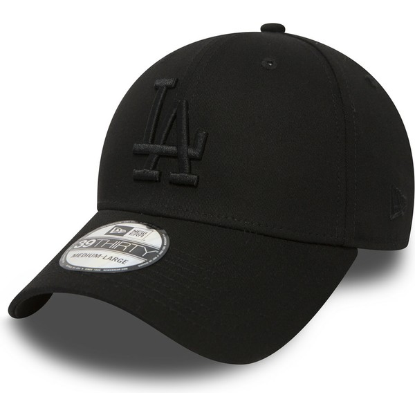 Gorra curva negra ajustada 39THIRTY Essential de Los Angeles Dodgers ... fc0914e087d