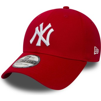 Gorra curva roja ajustada 39THIRTY Classic de New York Yankees MLB de New Era