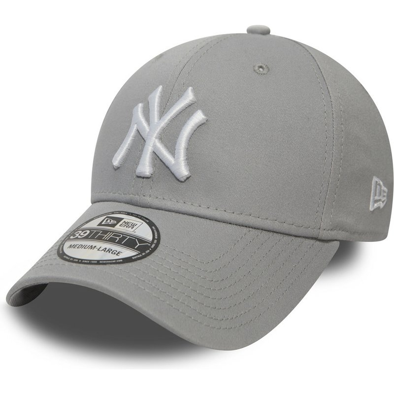 gorra-curva-gris-ajustada-39thirty-classic-de-new-york-yankees-mlb-de-new-era