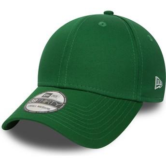 Gorra curva verde ajustada 39THIRTY Basic Flag de New Era