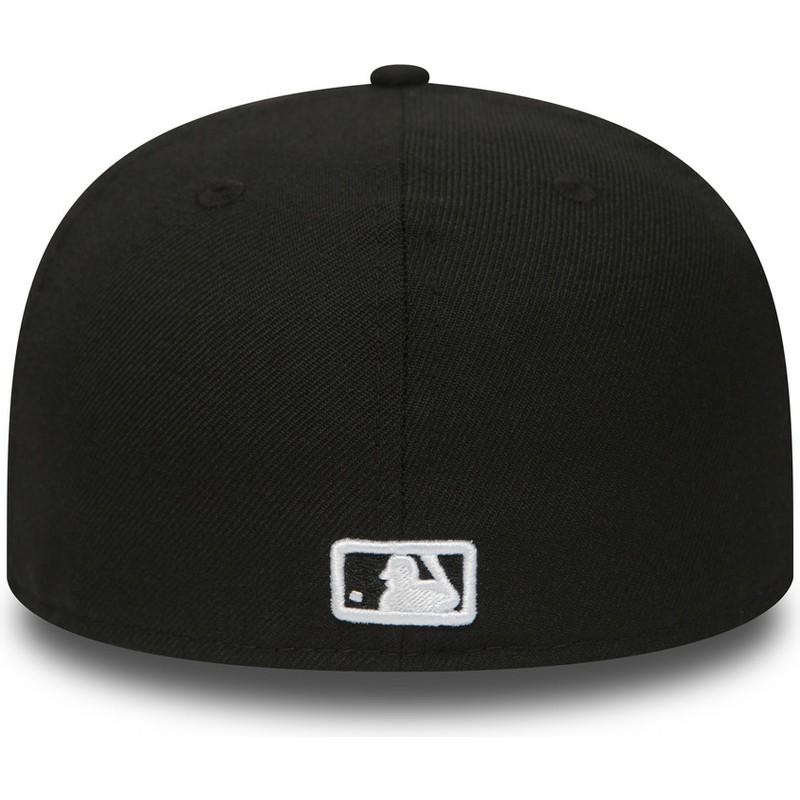 d6d4925bf1411 Gorra plana negra ajustada 59FIFTY Essential de Atlanta Braves MLB ...
