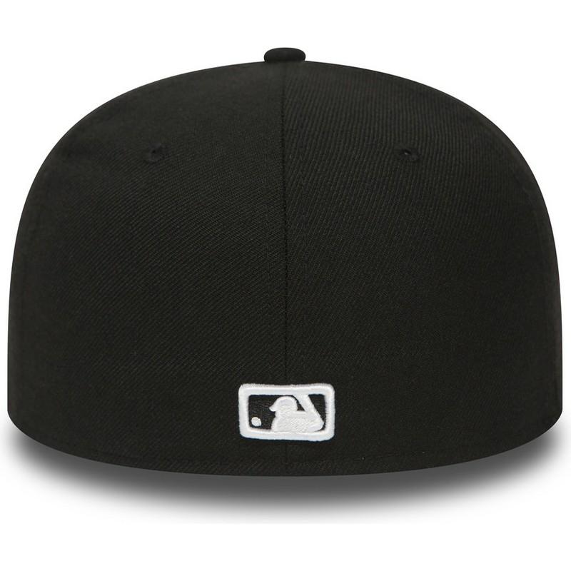 503e3f81aeb61 Gorra plana negra ajustada 59FIFTY Essential de Los Angeles Dodgers ...
