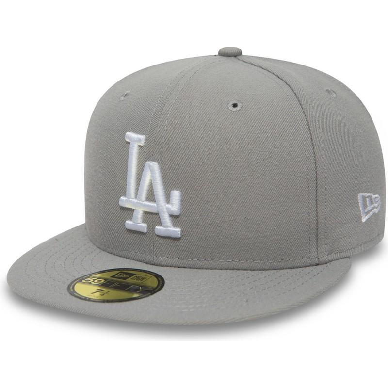 fbbf62b6527e Gorra plana gris ajustada 59FIFTY Essential de Los Angeles Dodgers MLB de  New Era