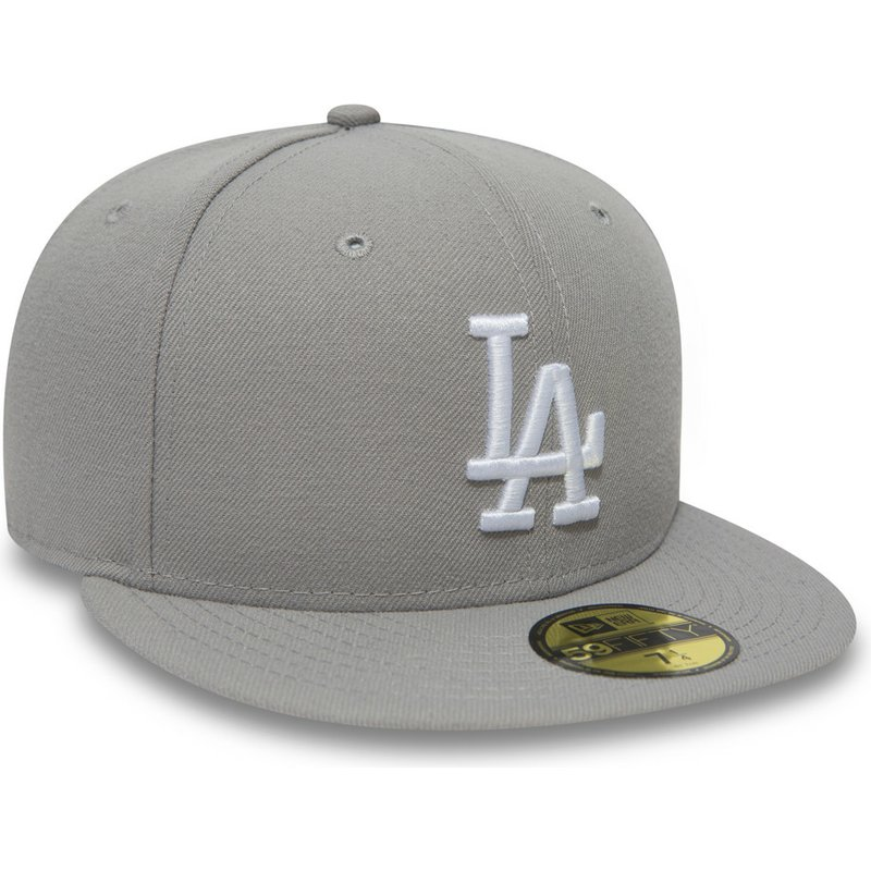 Gorra plana gris ajustada 59FIFTY Essential de Los Angeles Dodgers ... 6ecbc094cbd