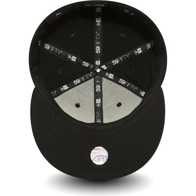 ... gorra-plana-negra-ajustada-59fifty-black-on-black-. Siguiente. New Era 89ad9540ab7