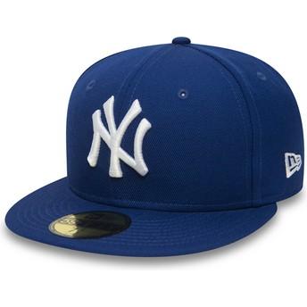 Gorra plana azul ajustada 59FIFTY Essential de New York Yankees MLB de New Era