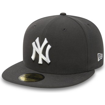 Gorra plana piedra ajustada 59FIFTY Essential de New York Yankees MLB de New Era