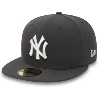 Gorra plana piedra ajustada 59FIFTY Essential de New York Yankees MLB de New Era