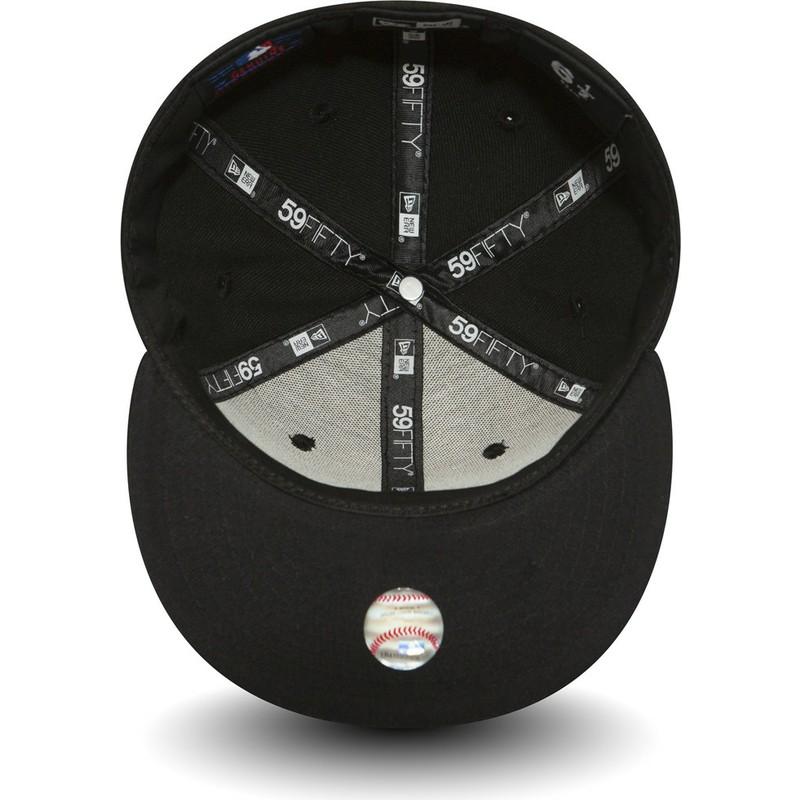 98001311e13e5 gorras planas ny. Gorra snapback negra ajustada para niño 59FIFTY  Essential. Gorra snapback negra
