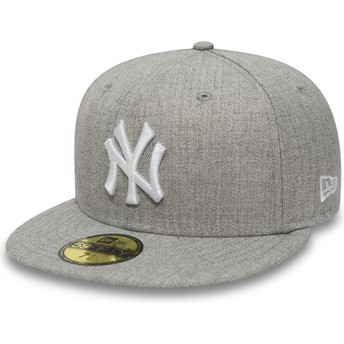 Gorra plana gris ajustada 59FIFTY Essential de New York Yankees MLB de New Era