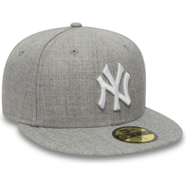 Gorra plana gris ajustada 59FIFTY Essential de New York Yankees MLB ... 4330634f5fe