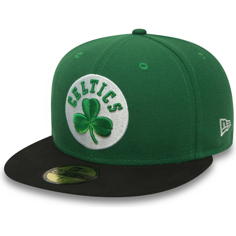 5cf3d78cf1ba Gorra plana verde ajustada 59FIFTY Essential de Boston Celtics NBA de New  Era