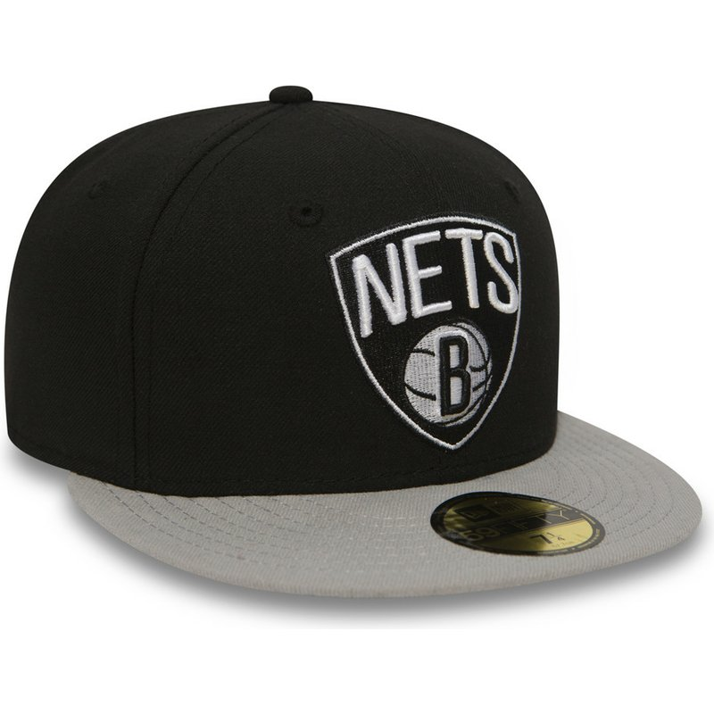 Gorra snapback negra ajustada 59FIFTY Essential de Brooklyn Nets NBA ... c4b8b18f982