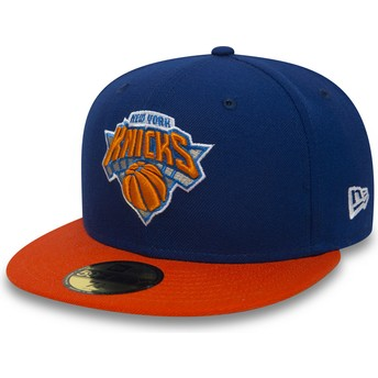 Gorra plana azul ajustada 59FIFTY Essential de New York Knicks NBA de New Era