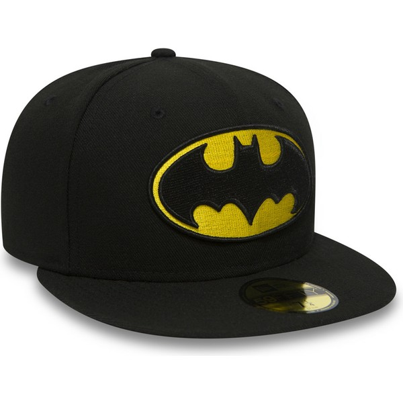 Gorra plana negra ajustada 59FIFTY Batman Character Essential Warner ... e34b13cbffe