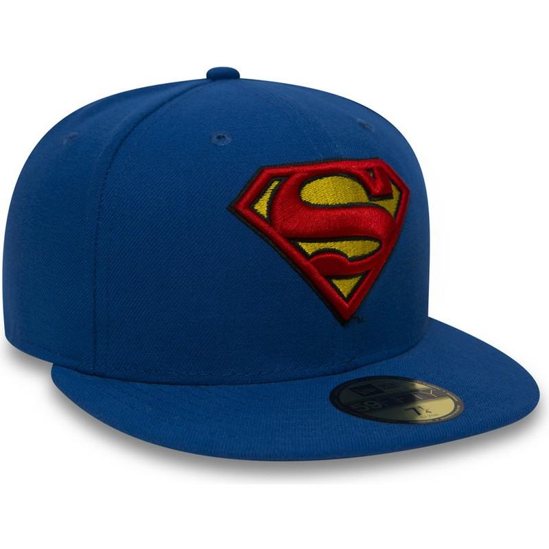 2c7328aeda2f9 ... gorra-plana-azul-ajustada-59fifty-superman-character-essential- ...