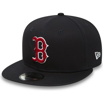 Gorra plana azul marino ajustable 9FIFTY Essential de Boston Red Sox MLB de New Era