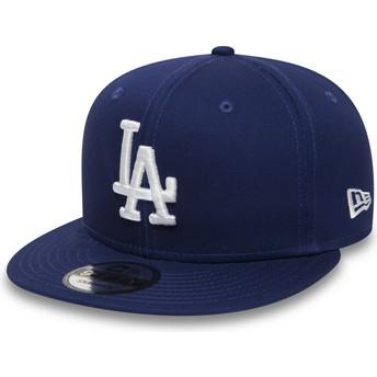 Gorra plana azul ajustable 9FIFTY Essential de Los Angeles Dodgers MLB de New Era