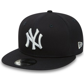 Gorra plana azul marino ajustable 9FIFTY Essential de New York Yankees MLB de New Era