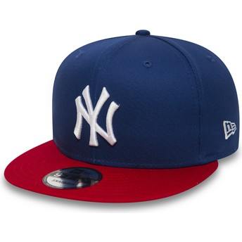 Gorra plana azul ajustable 9FIFTY Cotton Block de New York Yankees MLB de New Era