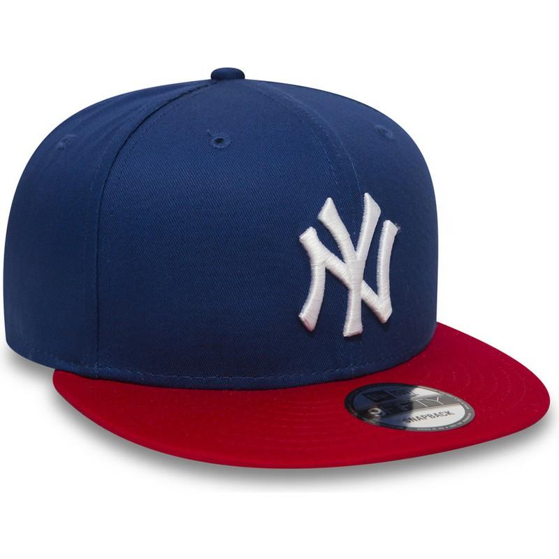 Gorra plana azul ajustable 9FIFTY Cotton Block de New York Yankees ... 0568e24973a