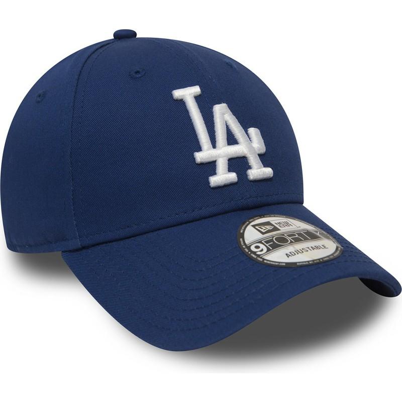 27181e6a078d6 Gorra curva azul ajustable 9FORTY Essential de Los Angeles Dodgers ...
