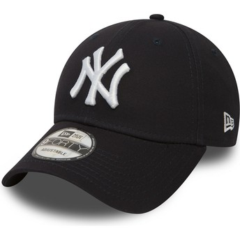 Gorra curva azul marino ajustable 9FORTY Essential de New York Yankees MLB de New Era